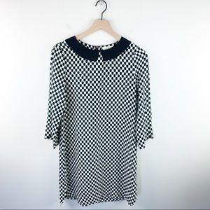Kate Spade NY Silk blend Geometric shift dress